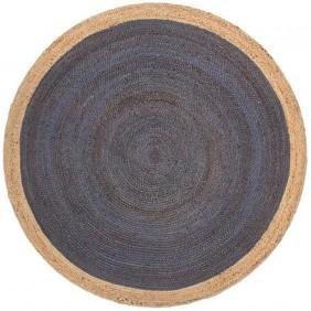 Natural Hand Braided Round Jute Rug (4x4 Feet)