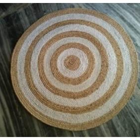 Natural Jute Cotton Hand Braided Rug
