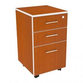 Maple Three Drawer Fix Pedestal 2D 1 FD