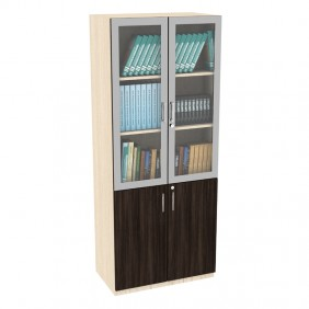 Symphony Two Door Full Height Glass Storage