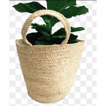 Natural Braided Jute Basket